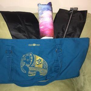 Accessories - YOGA Bag, 2 shoe bags, and yoga towel.